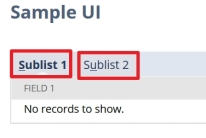 SuiteScript 2 0: Show two sublists as separate rows and not in